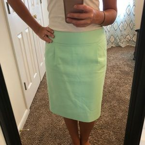Mint J. Crew Skirt